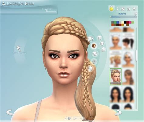 sims 4 hairstyles mods alexandra hair by vire aninyosaloh at mod the sims