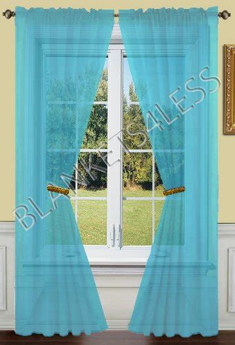 turquoise curtains window treatments 2 piece solid turquoise sheer window curtains drape panels