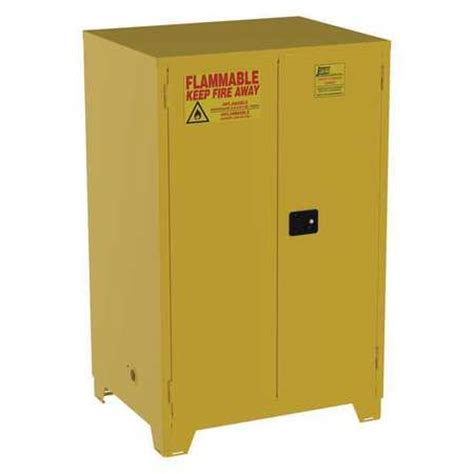flammable safety cabinets jamco flammable safety cabinet 90 gal yellow fm90 zoro