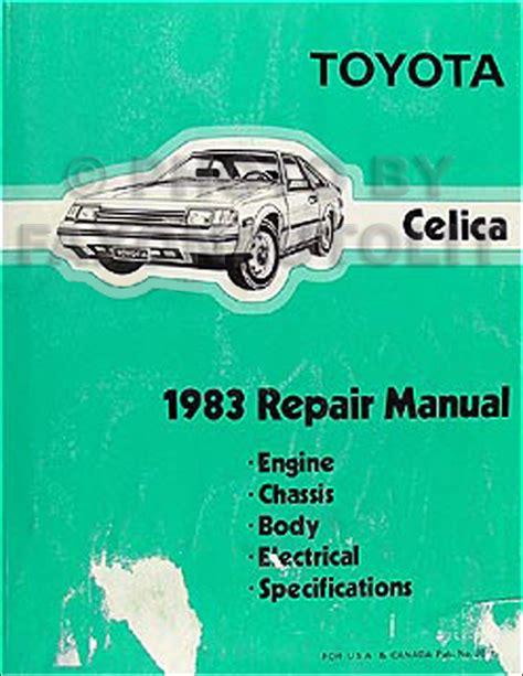 book repair manual 1983 toyota celica engine control 1983 toyota celica original repair shop manual 83 gt gts st oem service book
