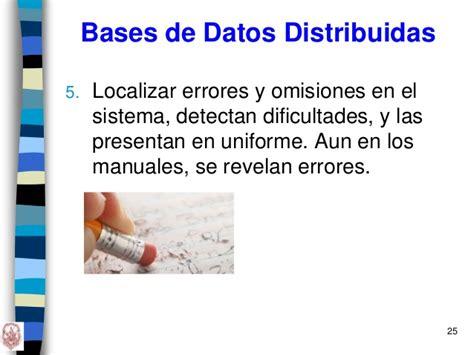 las diot aun se presentan en 2016 unidad 2 dise 209 o de las bases de datos distribuidas