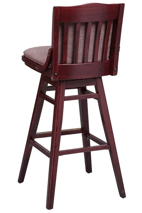 wooden bar stools with backs that swivel regal seating series 454 commercial wooden swivel bar