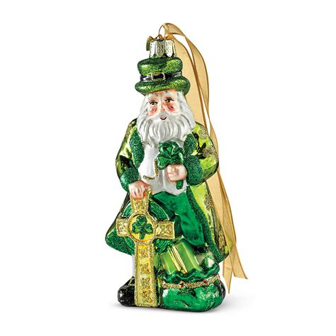 irish santa christmas ornament gump s