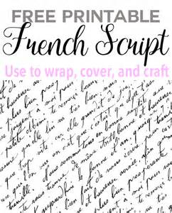 Home Decorator Com free printable french script paper in my own style