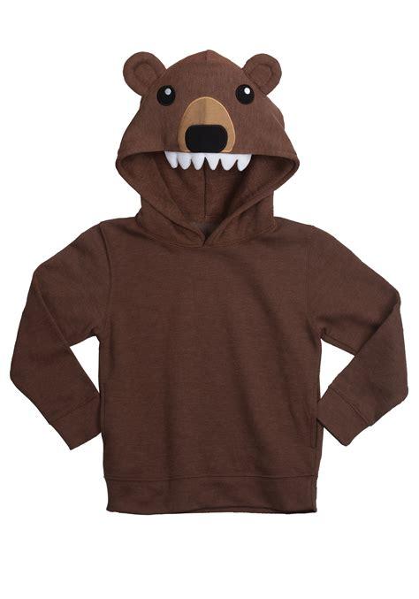 bear face animal hoodie
