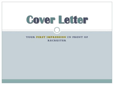 Cover Letter Tricks Tips Cover Letter Your Impression On Recruiter