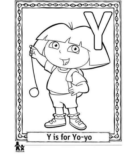dora alphabet coloring pages kids n fun com 26 coloring pages of doras alphabet