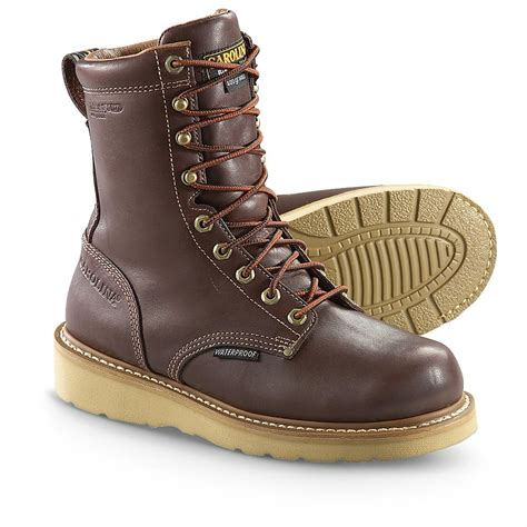 mens wedge boots s carolina 174 8 quot 400 gram thinsulate ultra insulation