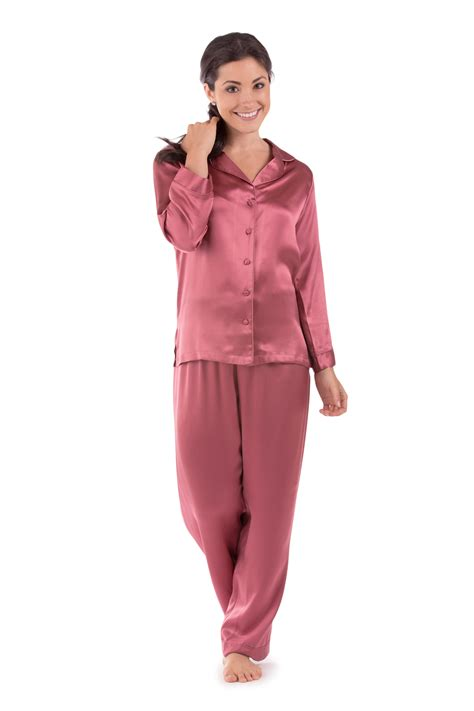 womens silk pajamas morning dew classic luxury pjs gift morning dew women s silk pajamas by texeresilk