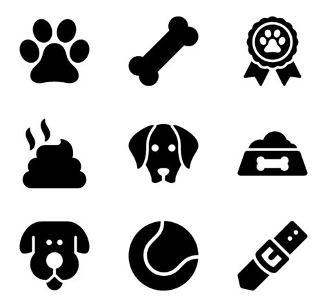 dog icons   vector icons