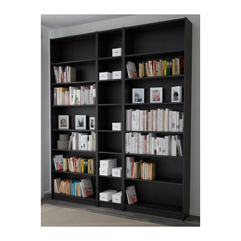 billy bookcase black brown 200x237x28 cm ikea