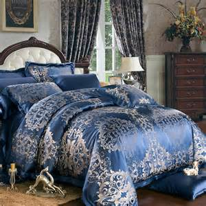 8 pieces luxury silk bedding sets