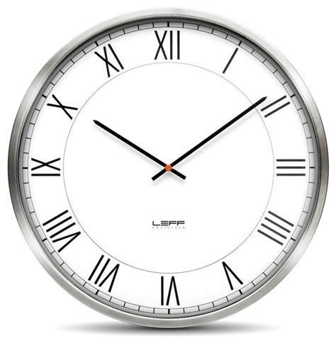 modern wall clocks stainless steel one45 wall clock stainless steel white modern