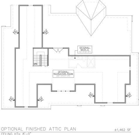 attic floor plan optional finished attic floor plan for 258 hill drive the gonnella team