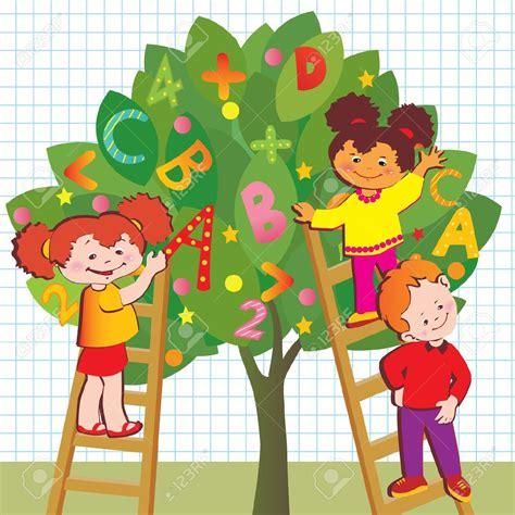 clipart bambini a scuola 15107632 bambini con lettere e numeri di scuola dell