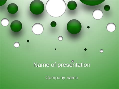 free falling bubbles powerpoint template for