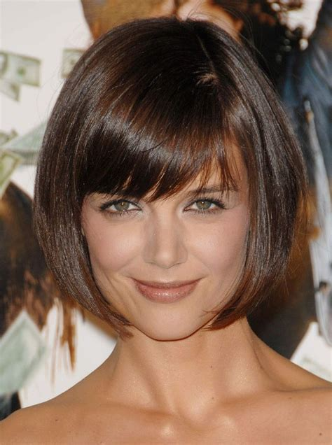 hairstyles weekly bob cute short bob hairstyle from katie holmes hairstyles weekly