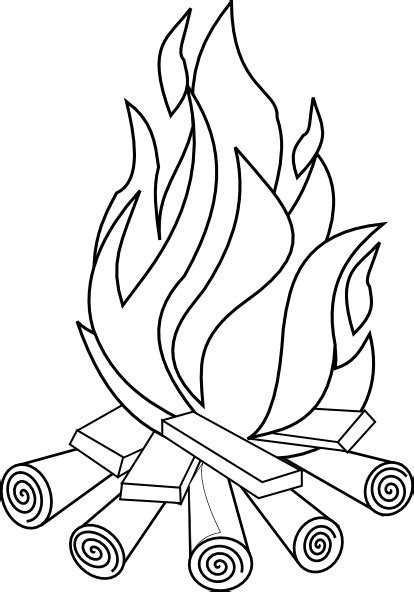fire line art clip art at clker com vector clip art