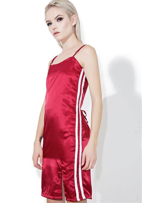 Dress Mercy Maroon o mighty maroon silk kitten dress dolls kill
