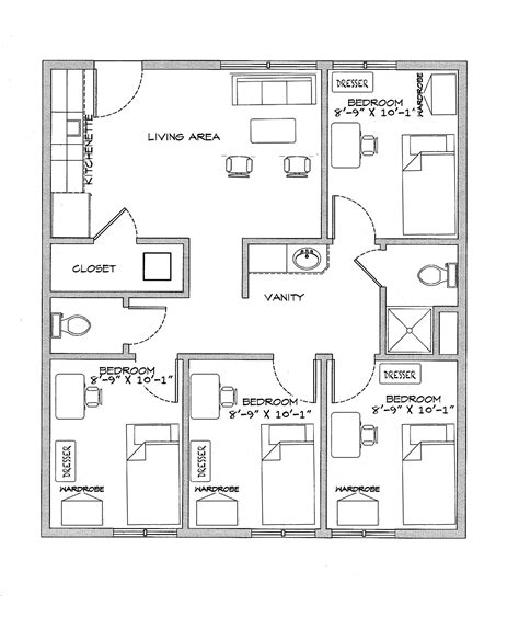 dorm floor plans student dorm floor plan
