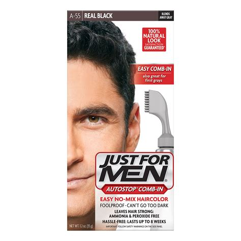 comb in hair color just for autostop s comb in hair color real black