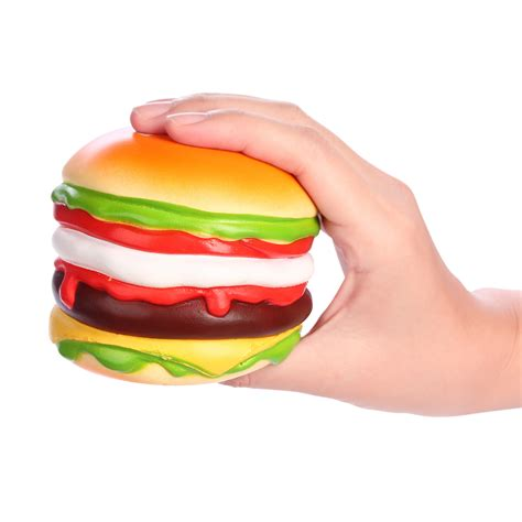 Squishy Licensed Box Shop Blueberry Original vlo hamburger steak cheese squishy burger charm