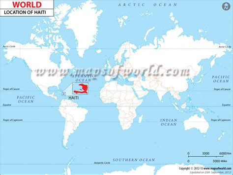 haiti map of world where is haiti located