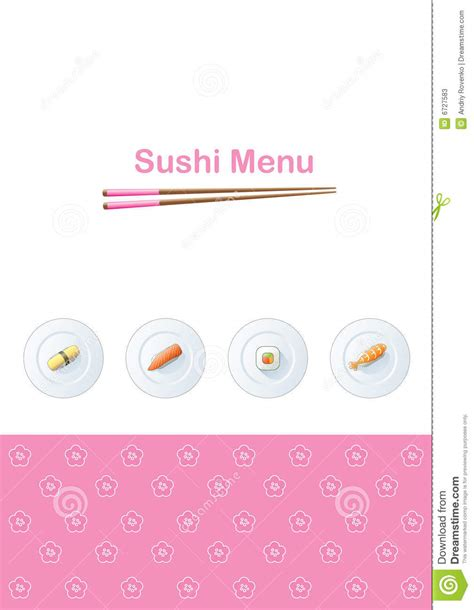 sushi menu template sushi menu template stock photos image 6727583