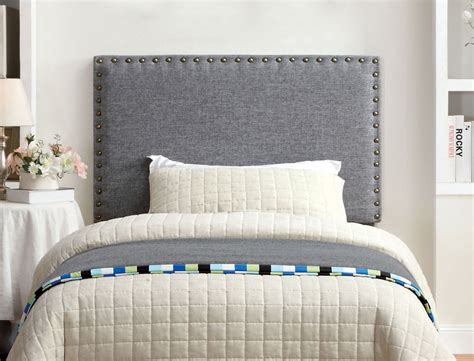 Gray Fabric Headboard Grey Fabric Upholstered Headboard Caravana Furniture