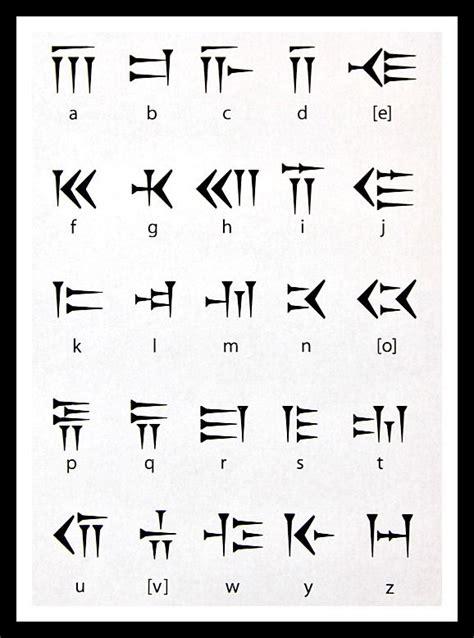 cuneiform letters az cuneiform and the alphabet mesopotamia for