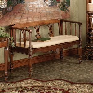 wood settee bench seat tuscan wood settee bench seat betterimprovement com