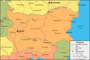 Bulgaria World Map by A Political Map Of Bulgaria