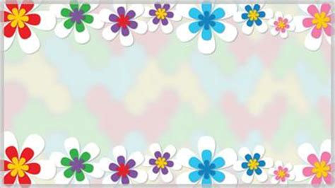 spring flower border still background choice slides for