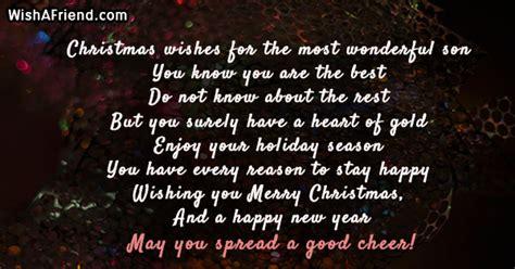 christmas wishes    wonderful christmas message  son