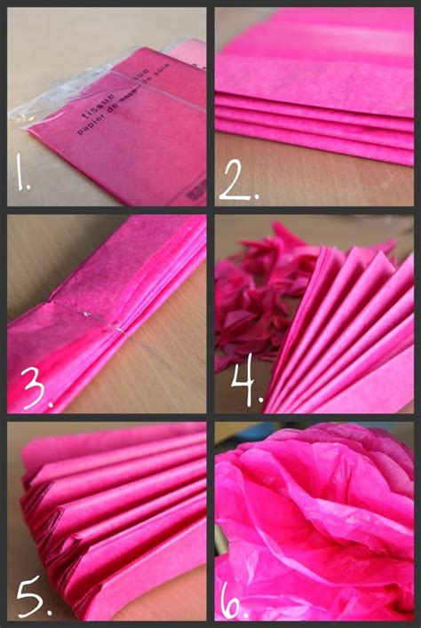 How To Make Tissue Paper Pom - diy tissue paper pom poms tutorial momadvice