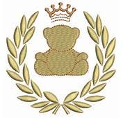 Ursinho E Coroa  Objetiva Bordados