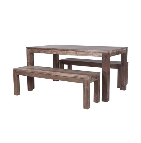 wooden bench set reclaimed wood bench 100 teak different sizes and sets