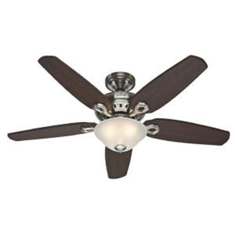 Home Depot Ceiling Fans With Remote by Fairhaven 52 In Brushed Nickel Ceiling Fan With