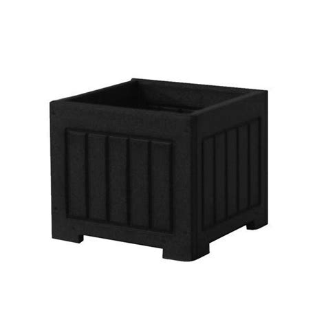 Plastic Planter Boxes Home Depot by Eagle One 12 In X 12 In Black Recycled Plastic