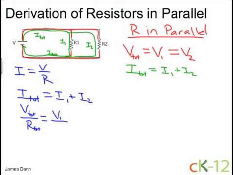 adding resistors in parallel derivation resistors in parallel ck 12 foundation