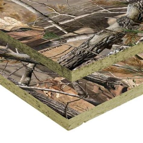 home depot real tree unbranded 3 8 in x 4 ft x 8 ft southern pine camouflage oriented strand board sheathing