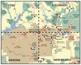 map of four corners usa search usa 2016
