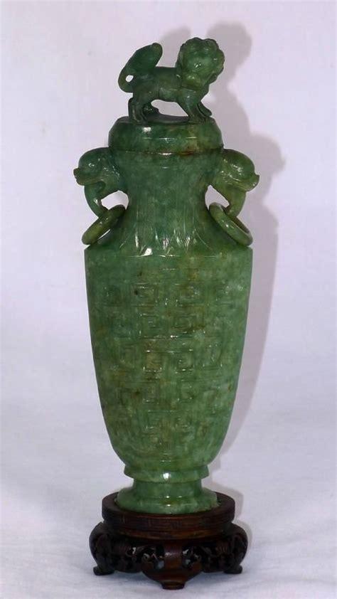 19th century jade vase carving 141330