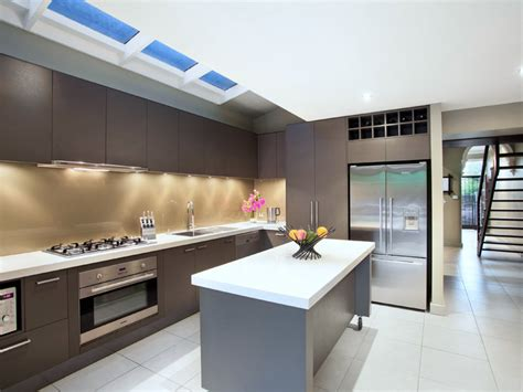 modern galley kitchen ideas modern galley kitchen design using stainless steel kitchen photo 1012617