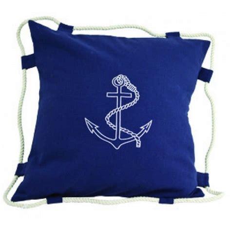 buy navy blue anchor pillow 15 inch nautical theme coastal