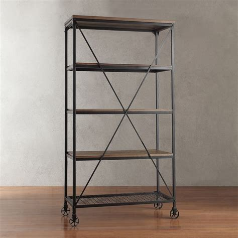 nelson industrial modern rustic 40 inch bookcase by