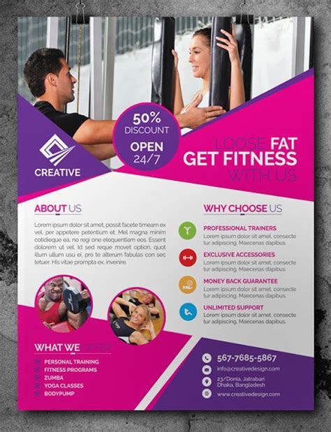 flyer powerpoint template 32 superior fitness flyer templates demplates