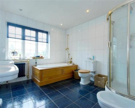 blue tile bathroom floor 35 cobalt blue bathroom floor tiles ideas and pictures