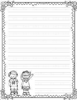 fun writing paper freebie cute