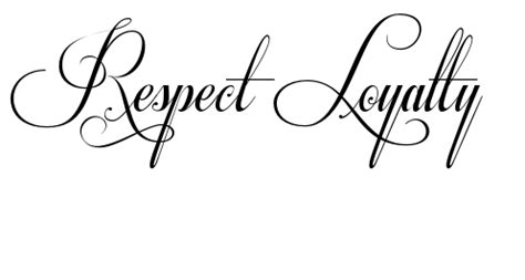 respect and loyalty tattoo designs 6 respect designs